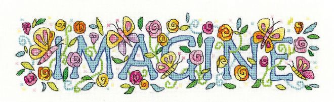 Imagine from  Karen Carter Collection Cross Stitch Kit